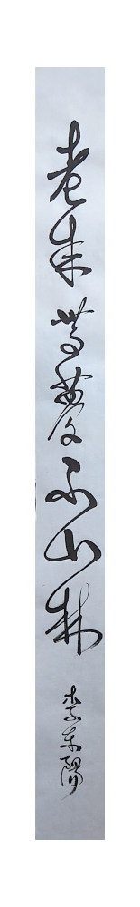un vers de li dongyango calligraphié en kuankcao en 2019 - © corinne leforestier