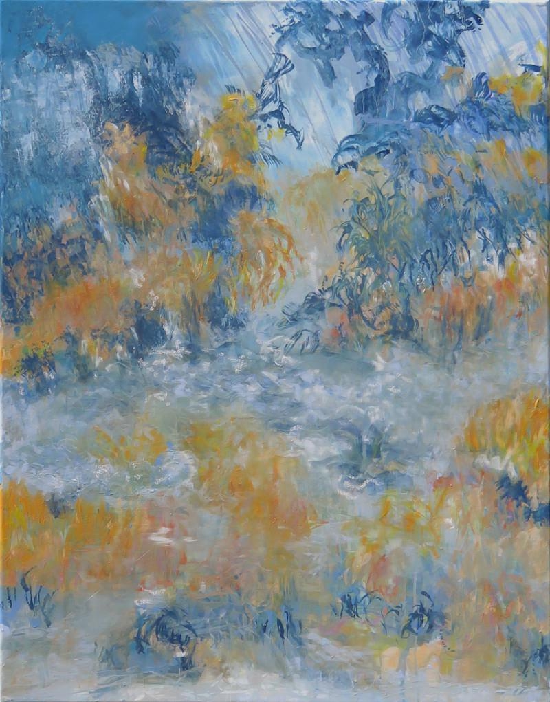 pluie d'orage - peinture 90 x 70